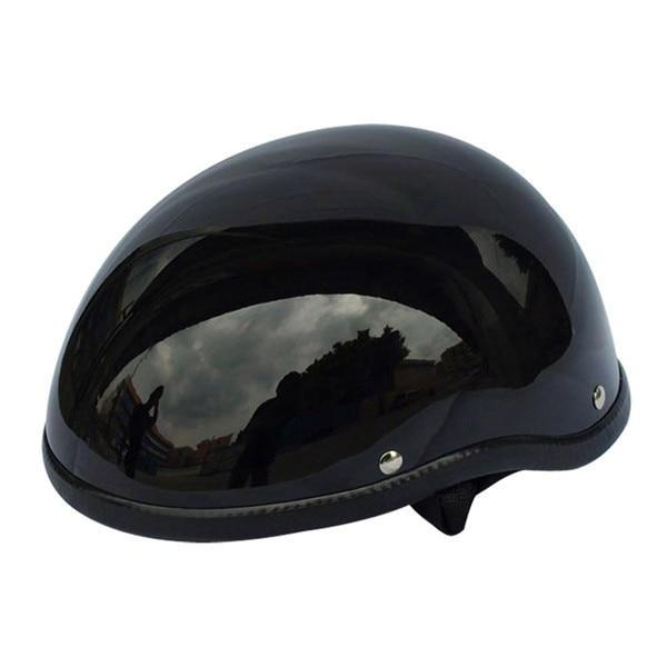 Retro German Black Motorcycle Helmet