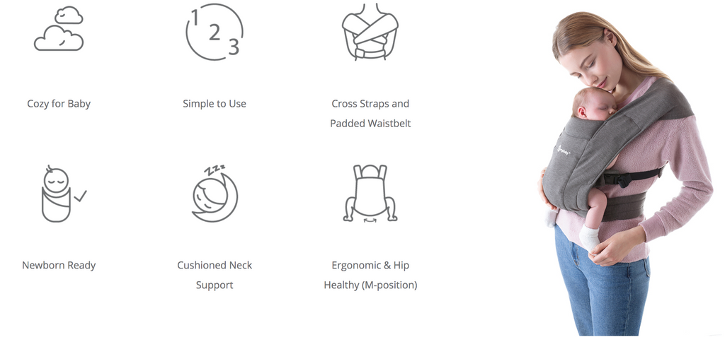 Ergobaby Embrace Baby Carrier features