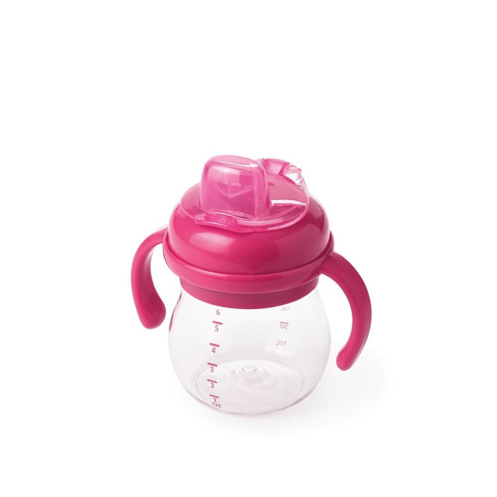 OXO Tot Grow Soft Spout Sippy Cup With Removable Handles - Pink