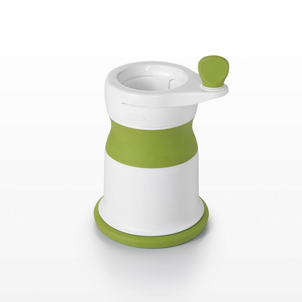 OXO TOT Baby Food Mill With Silicone Feeding Spoon - Green - WOWMOM