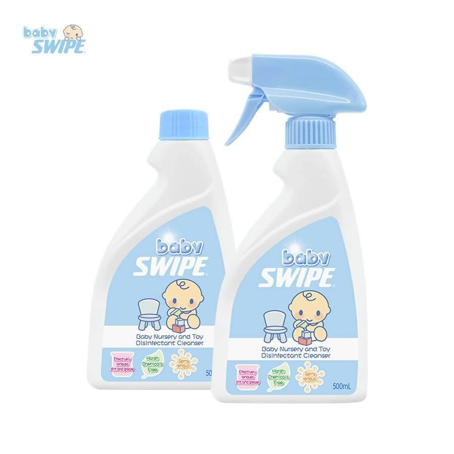 babySWIPE Nursery & Toy Disinfectant Set (500ml + Refill) - WOWMOM