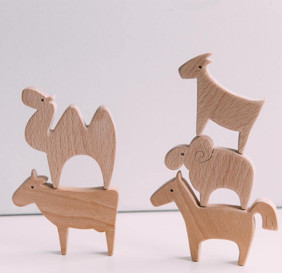 Wooden Animals Set - WOWMOM
