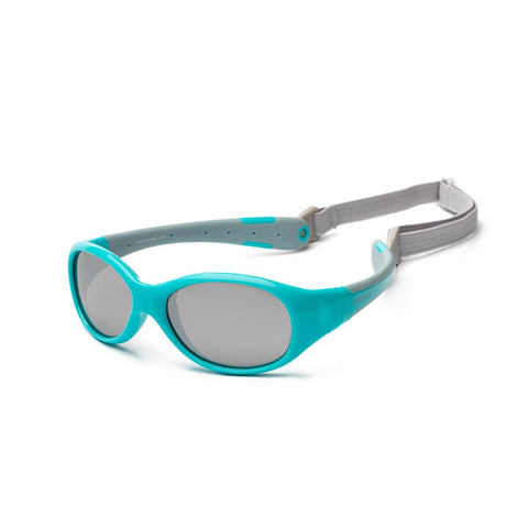 Koolsun Flex Kids Sunglasses - Aqua Grey 3-6 yrs
