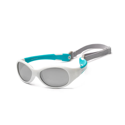 Koolsun Flex Kids Sunglasses - White Aqua 3-6 yrs