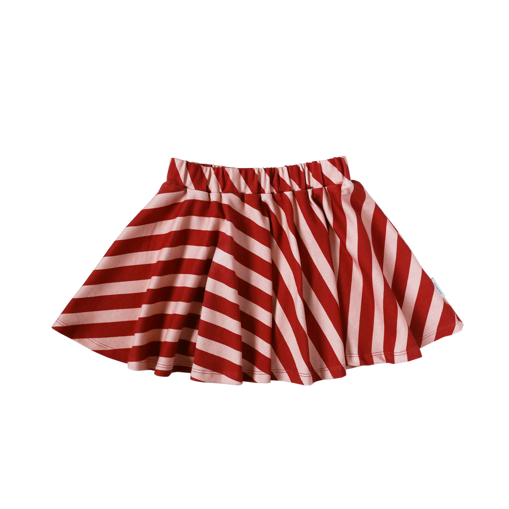 Red Striped Skirt