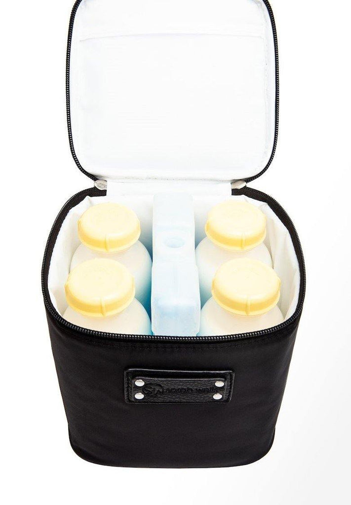 Sarah Wells Cold Gold Cooler Bag + Ice Pack (Anniversary Black) - WOWMOM