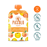 Piccolo Apple & Appricot with a pinch of cinnamon (Stage 1 - 100g ) - WOWMOM