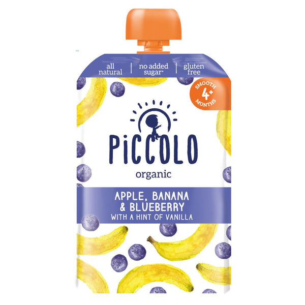 Piccolo Banana, Blueberry & Apple with a hint of Vanilla (Stage 1 - 100g ) - WOWMOM