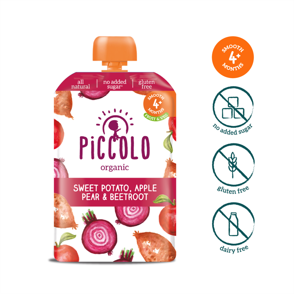 Piccolo Sweet Potato, Beetroot, Apple & Pear (Stage 1 - 100g ) (4)