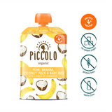 Piccolo Banana, Coconut & Baby Rice with a pinch of cinnamon (Stage 1 - 100g ) (4)