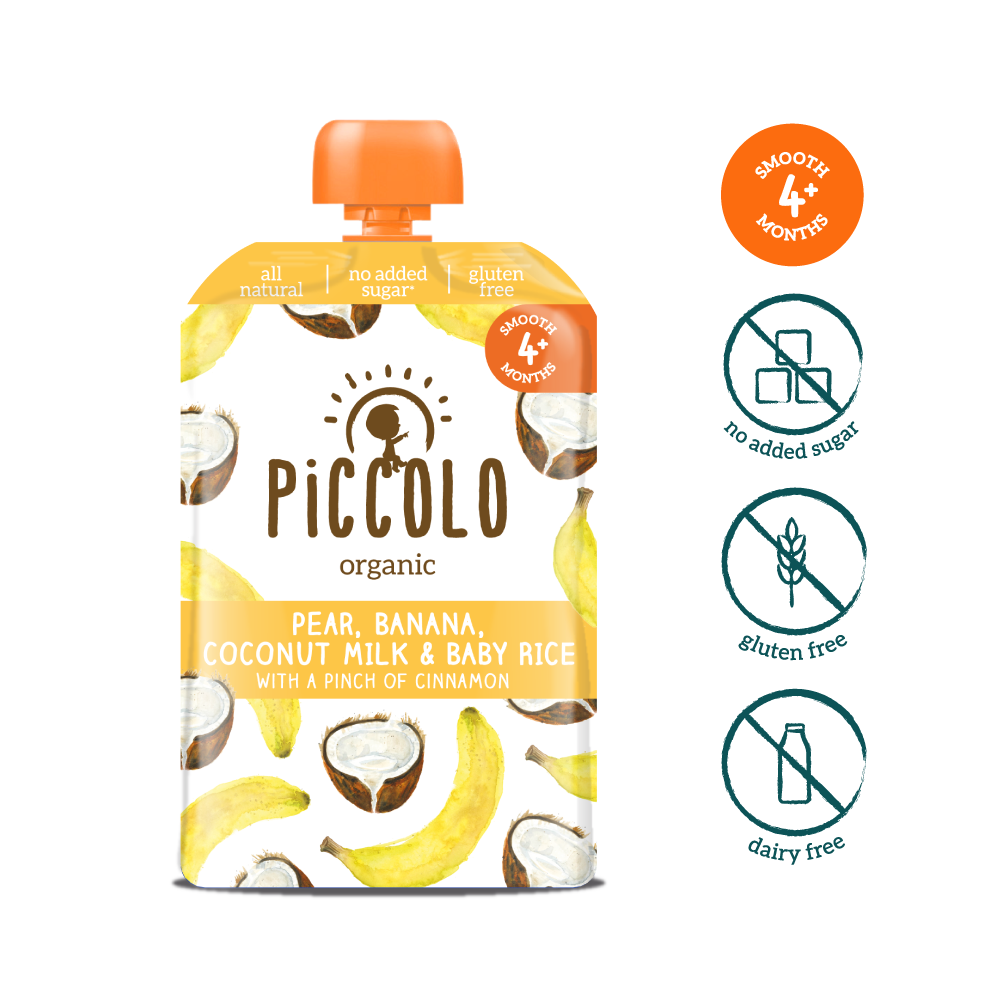 Piccolo Banana, Coconut & Baby Rice with a pinch of cinnamon (Stage 1 - 100g ) (2)