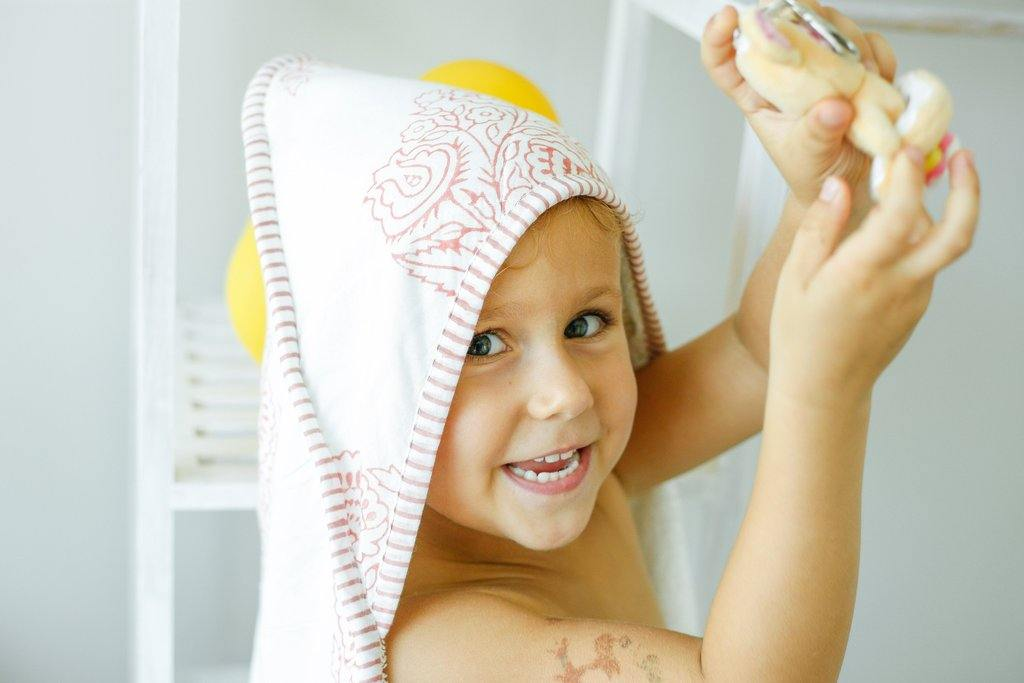 Malabar Baby Block Printed Handmade Hooded Towels