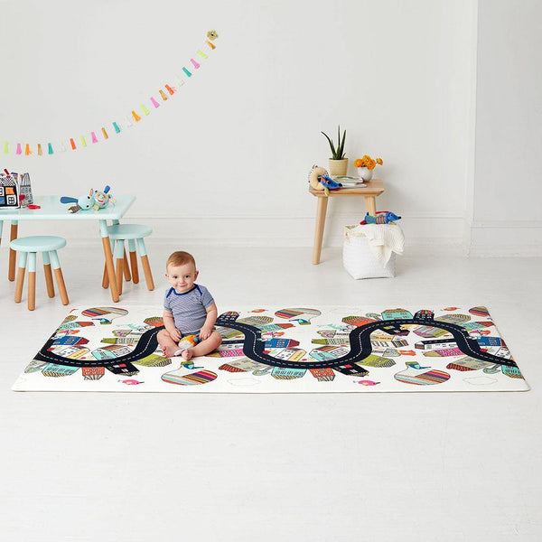 Skip Hop Doubleplay Reversible Playmat - Vibrant Village - WOWMOM