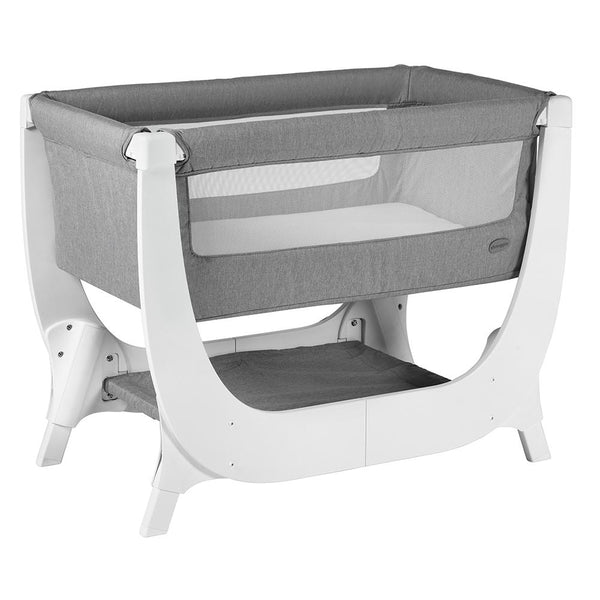 Shnuggle Air Bedside Crib - Dove Grey - WOWMOM