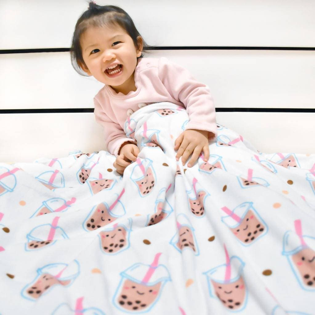Minky Fleece Baby Blanket - Boba