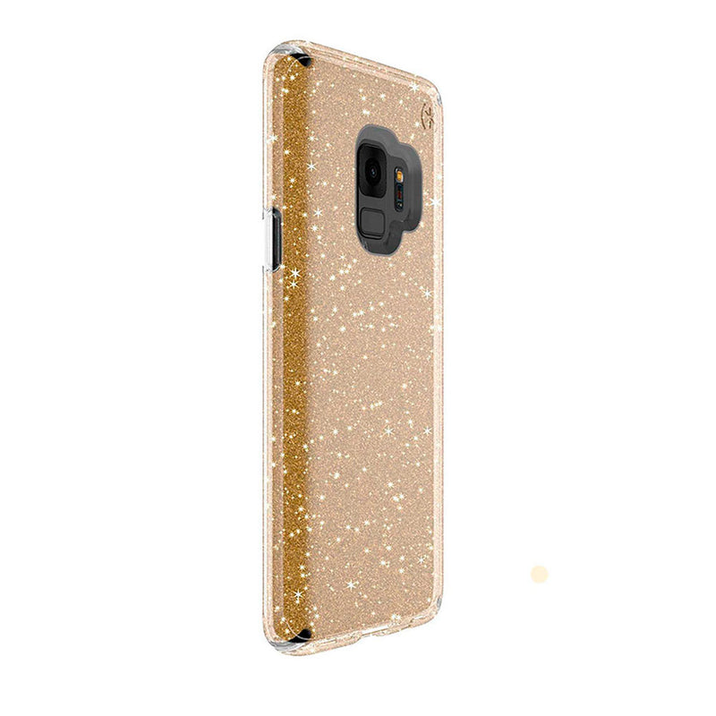 Speck Funda presidio clear glitter Galaxy S9 gold/clear