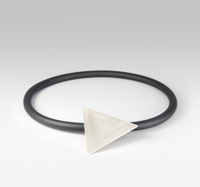 Triangle Pendant on black choker