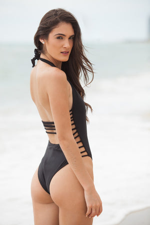 RISQUE BLACK ONE-PIECE