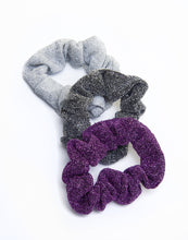 Load image into Gallery viewer, Glitter Set of 3 Scrunchies - piqinita