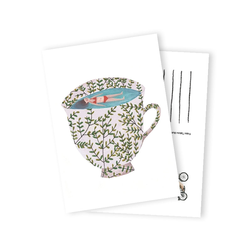 SEA IN CUP POSTCARD