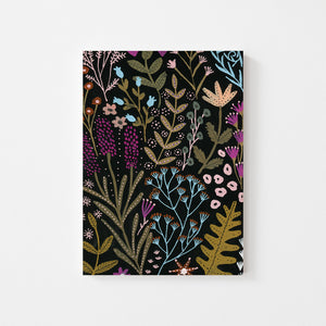 DARK FLORAL NOTEBOOK
