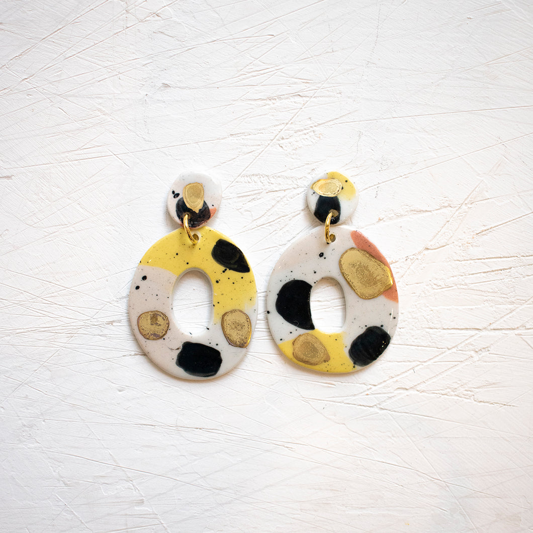 PORCELAIN EARRINGS #19