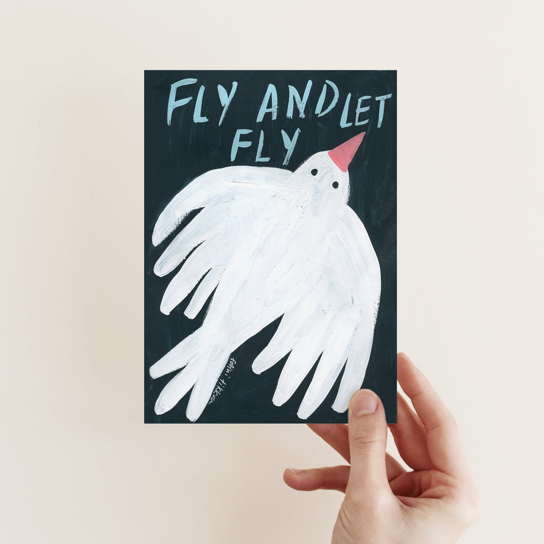 LET FLY POSTCARD