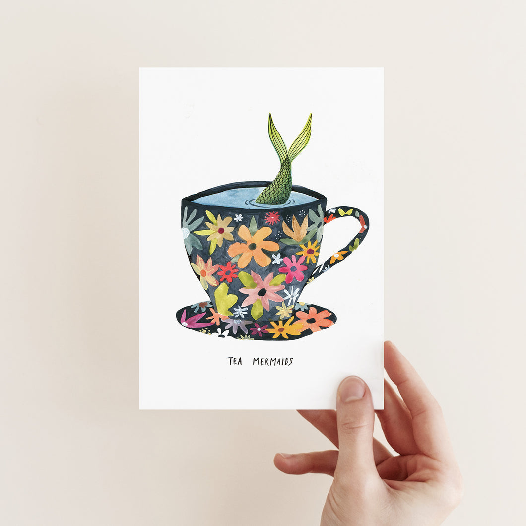 TEA MERMAIDS POSTCARD