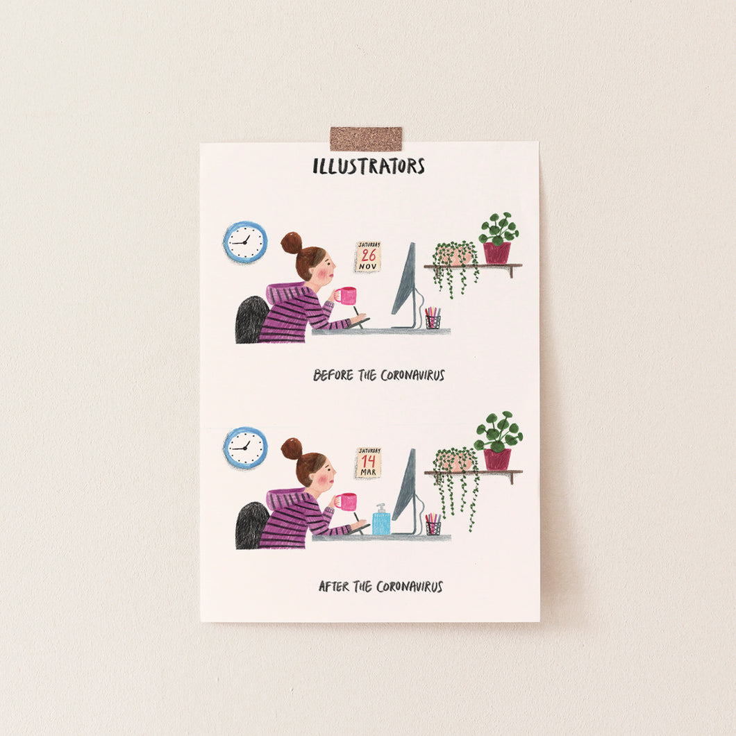 ILLUSTRATOR LIFE POSTCARD