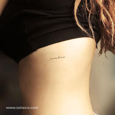 "Handwritten font ""sunshine"" temporary tattoo - eco-friendly and environmentally friendly"