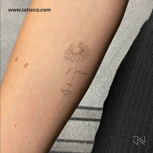 A Dreaming Daisy by Jakenowicz Temporary Tattoo - Set of 3