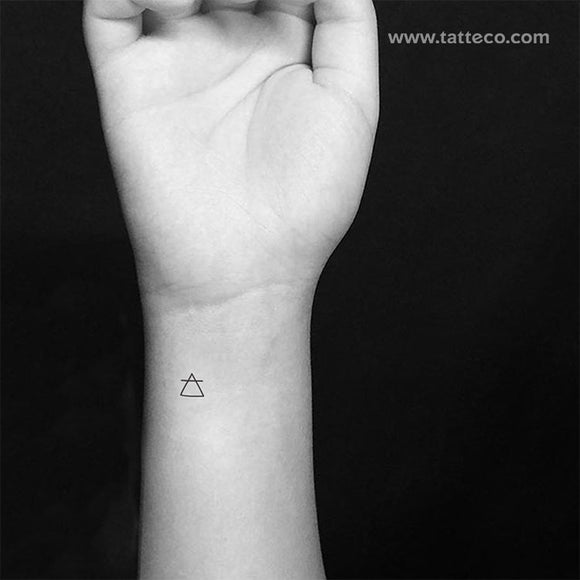 Air Alchemical Symbol Temporary Tattoo (Set of 3)