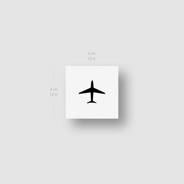 Minimalist Airplane Temporary Tattoo - Set of 3