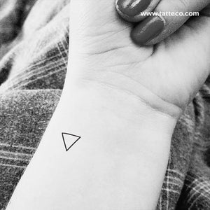 Water Alchemical Symbol Temporary Tattoo - Set of 3