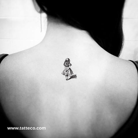 Alice In Wonderland Temporary Tattoo - Set of 3