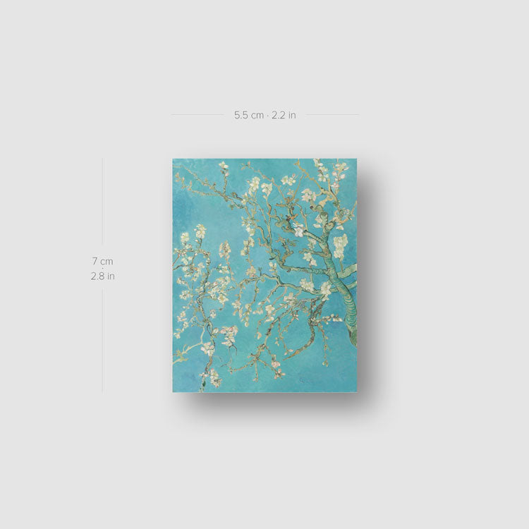 Van Gogh's Almond Blossoms Temporary Tattoo - Set of 3