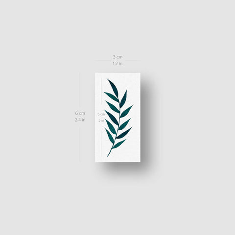 Ash Tree Leaf Temporary Tattoo by Zihee - Set of 3
