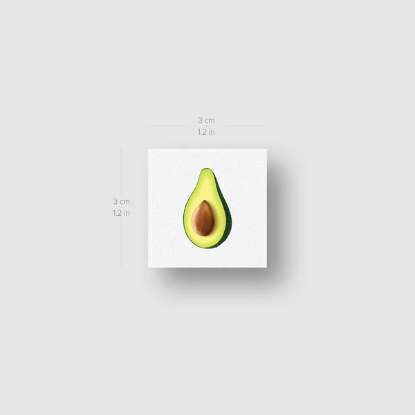 Avocado Temporary Tattoo - Set of 3