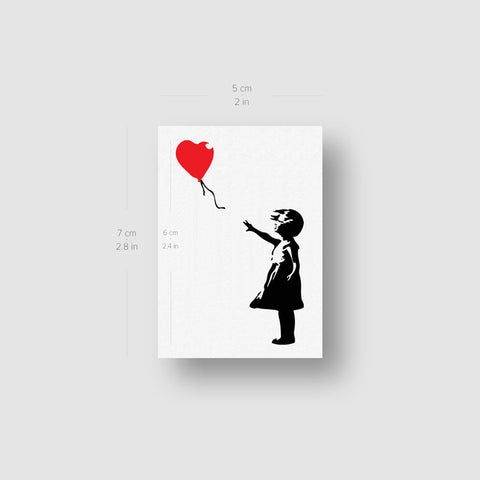 Banksy's Balloon Girl Temporary Tattoo - Set of 3