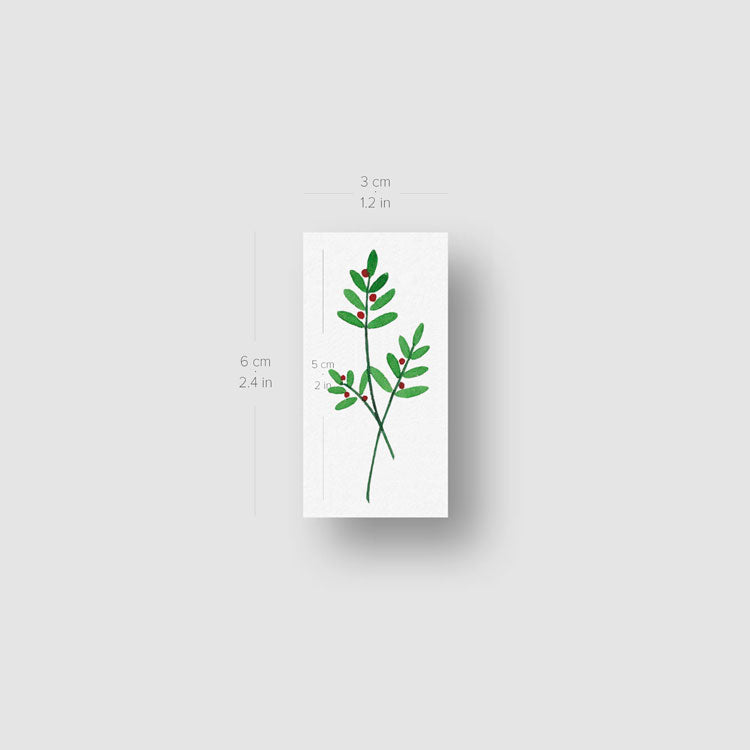 Berry Branch Temporary Tattoo by Zihee - Set of 3