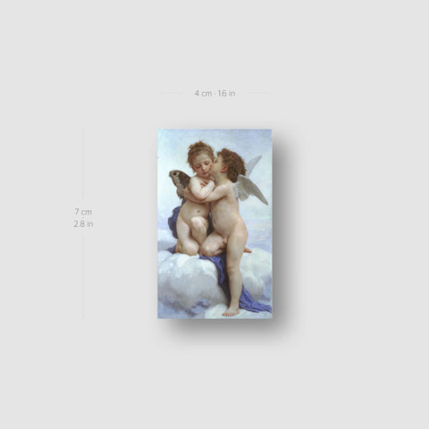 Bouguereau's The First Kiss Temporary Tattoo - Set of 3