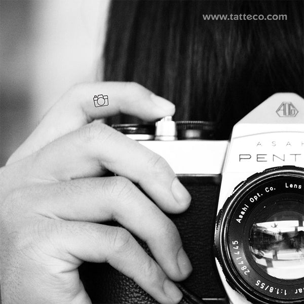 Camera Temporary Tattoo - Set of 3