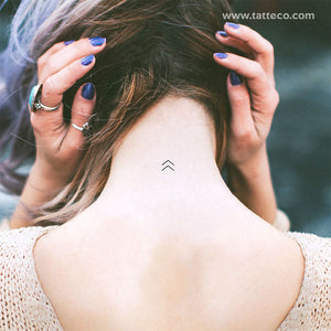Chevron Arrow Temporary Tattoo (Set of 3)