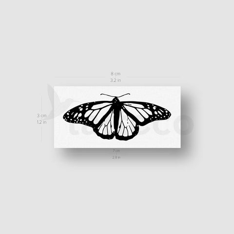 Common Tiger Butterfly Temporary Tattoo - Set of 3