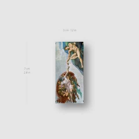 Michelangelo's The Creation of Adam Temporary Tattoo - Set of 3