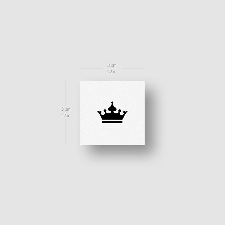 Black Crown Temporary Tattoo - Set of 3