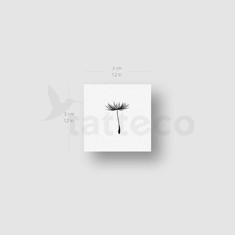 Dandelion Seed Temporary Tattoo - Set of 3