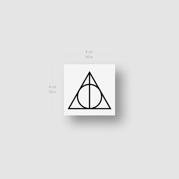 Deathly Hallows Temporary Tattoo - Set of 3