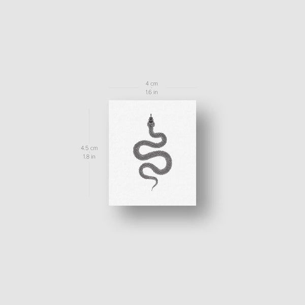 Dotwork Snake Temporary Tattoo - Set of 3