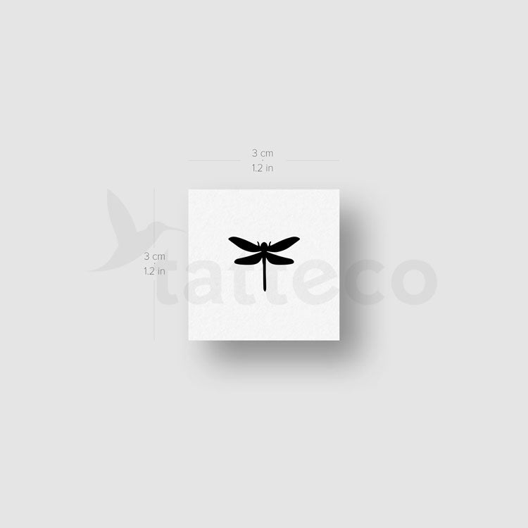 Little Dragonfly Temporary Tattoo - Set of 3
